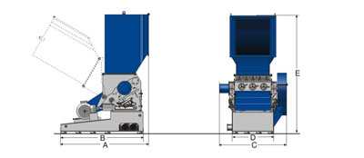 GSH Heavy Duty Granulator Drawing